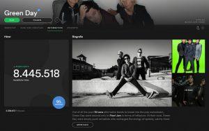 Biografie in Spotify anzeigen